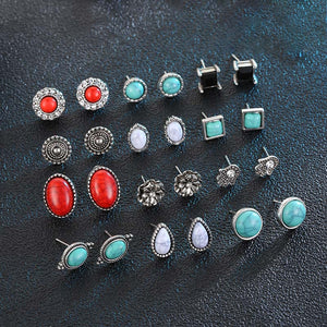 ON SALE - Mix & Match Bohemia Twelve Piece Earring Ensemble