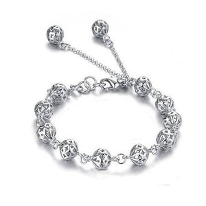 ON SALE - Lacework Beads Sterling Silver Bracelet