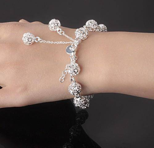 CLEARANCE - Lacework Beads Silver Bracelet