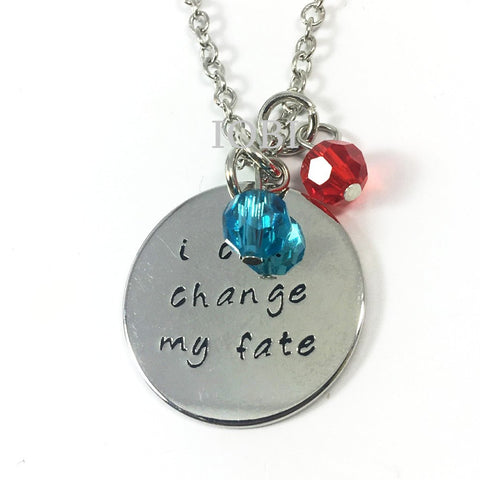 """I Can Change My Fate"" Stamped Princess Necklace"