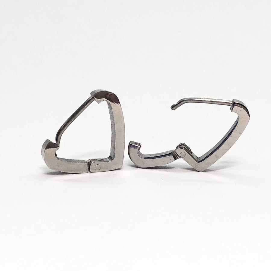 Triangle Stainless Steel Huggie Hoop Earrings
