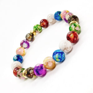 Triple Chakras Beaded Stretch Bracelet