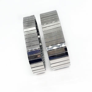 ON SALE - Classic Watch Link Stainless Steel Stretch Bracelet - Two Sizes to Choose