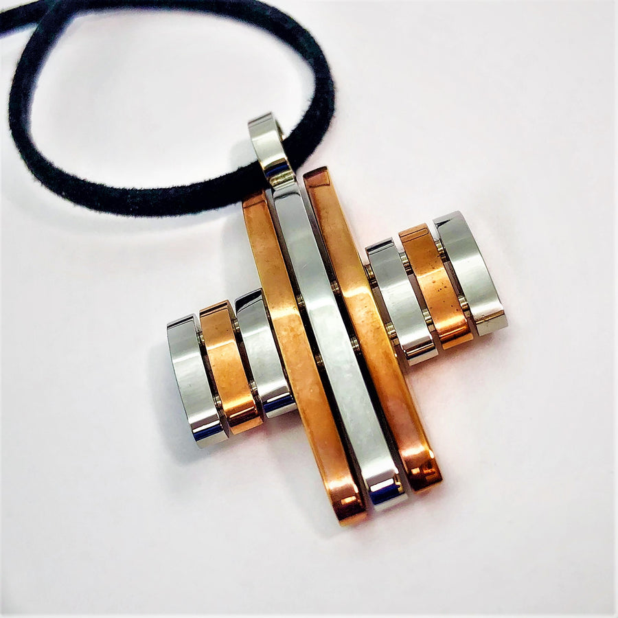 Tone Copper Stainless Steel Cross Necklace