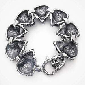 Fierce Lion Head Stainless Steel Bracelet