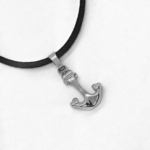 Heart Anchor Stainless Steel Pendant Necklace