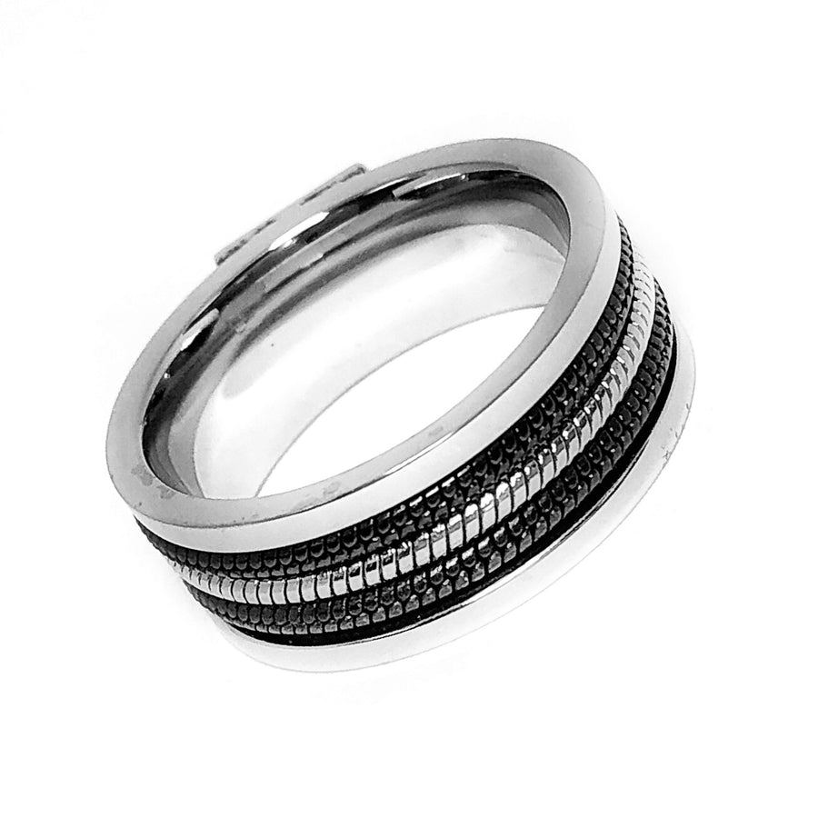 Cables Men's CZ & Stainless Steel Band