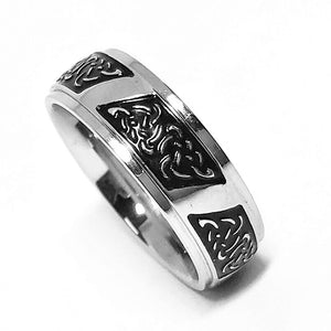 Celtic Charm Stainless Steel Men's Band