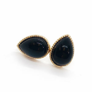 Pearlescence Black Teardrop Stud Earrings