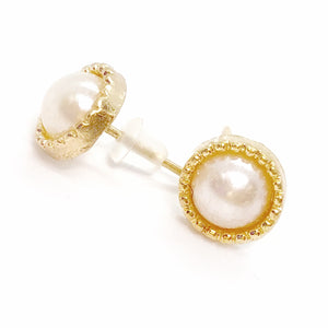 Pearlescence Small Button Stud Earrings