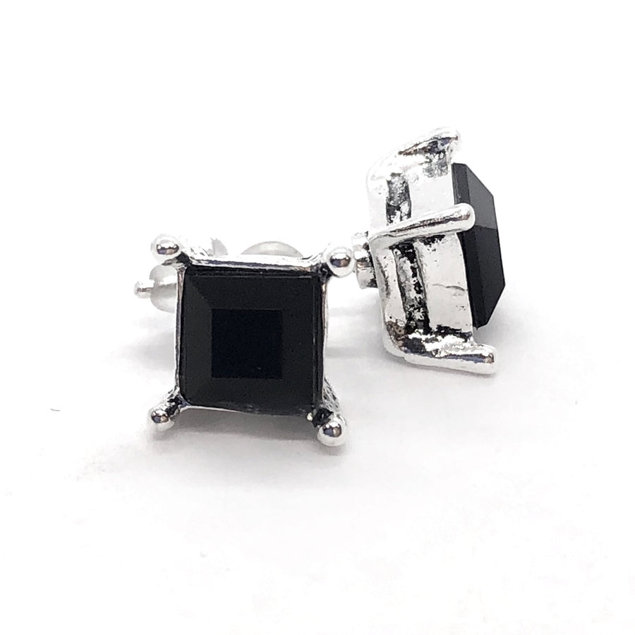 Bohemia Black Square Stud Earrings
