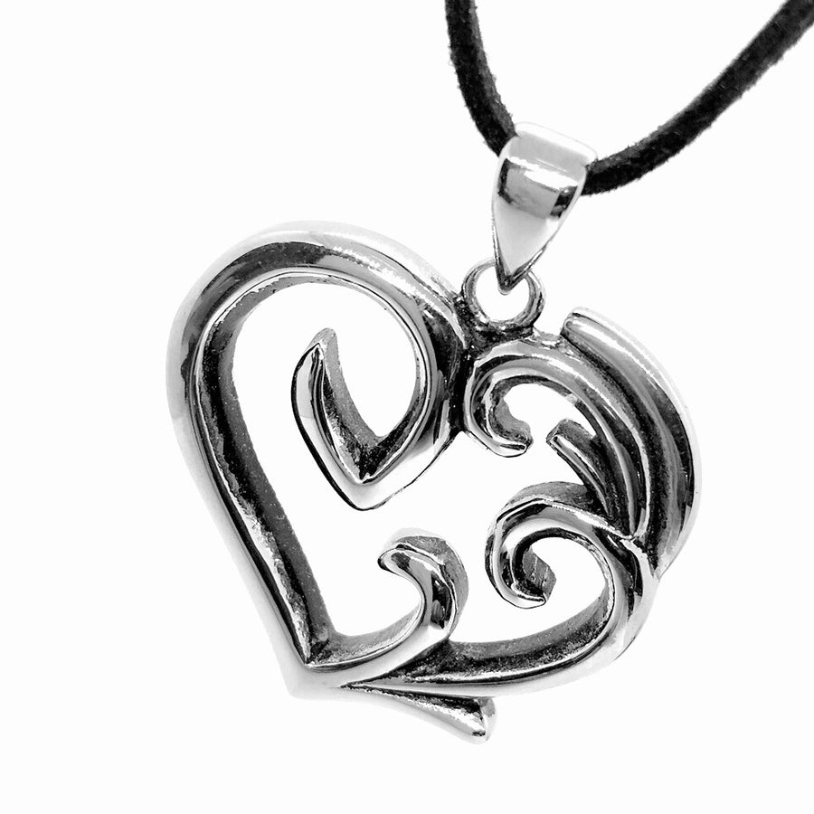 ON SALE - Entwined Heart Stainless Steel Pendant Necklace