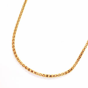 feshionn-iobi-20-inch-18k-gold-plated-hollow-stainless-steel-popcorn-link-chain