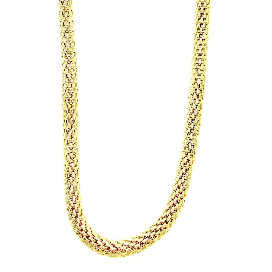 feshionn-iobi-18-inch-18k-gold-plated-hollow-mesh-stainless-steel-chain