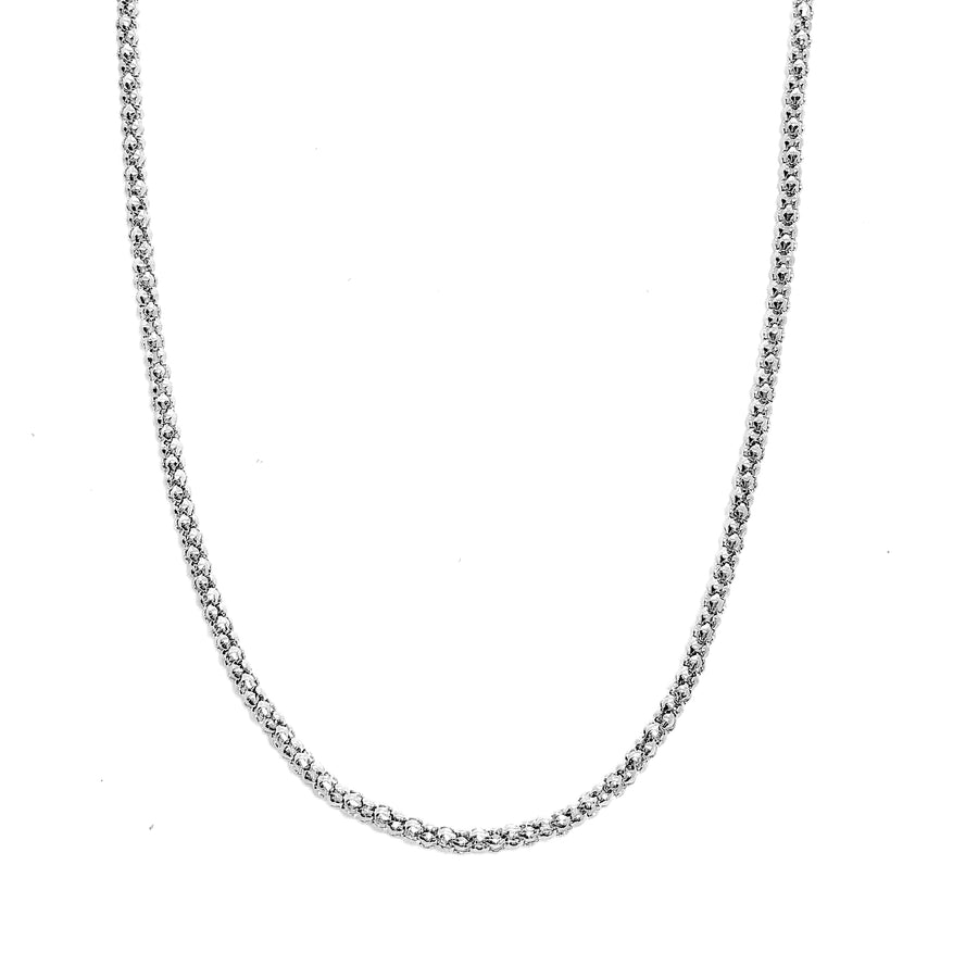 ON SALE - 20 inch Stainless Steel Popcorn Link Chain