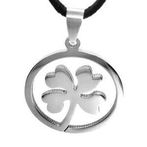 feshionn-iobi-shamrock-silhouette-stainless-steel-pendant-necklace