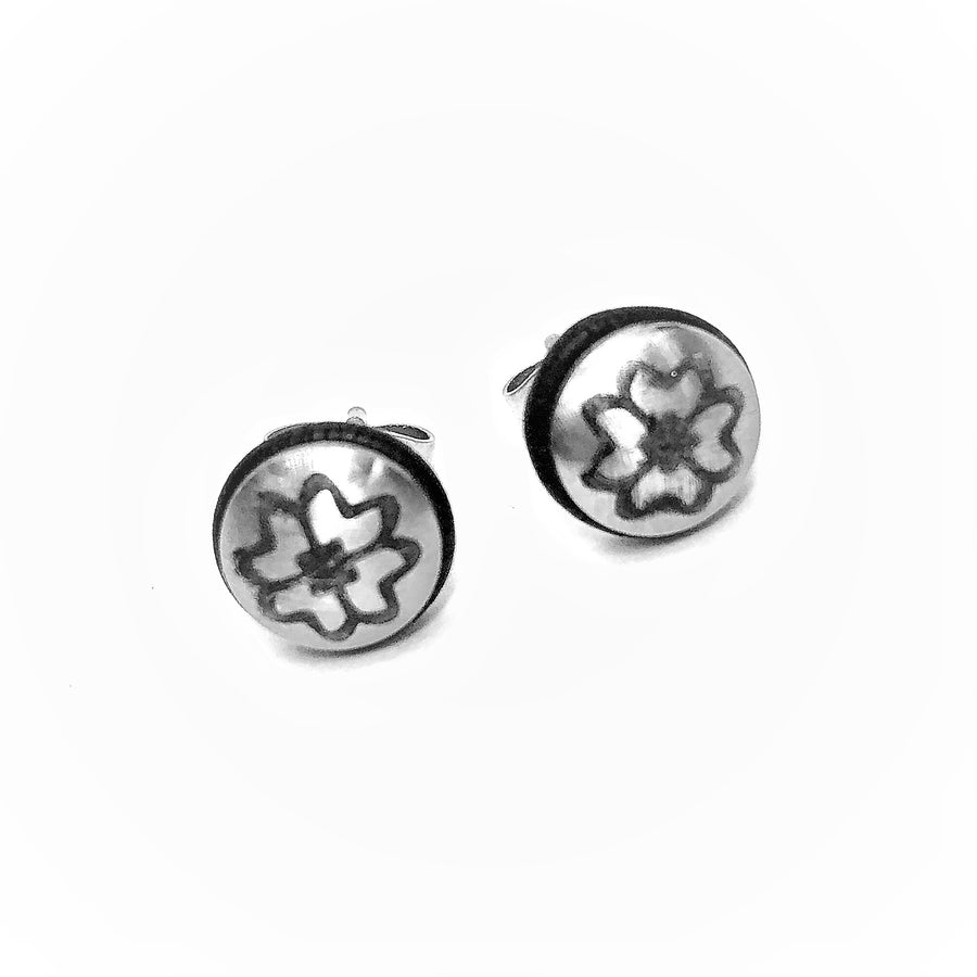 Silver Metal And Rubber Stainless Steel Studs
