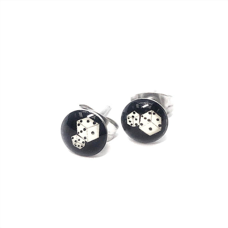 Dice Logo Stainless Steel Studs