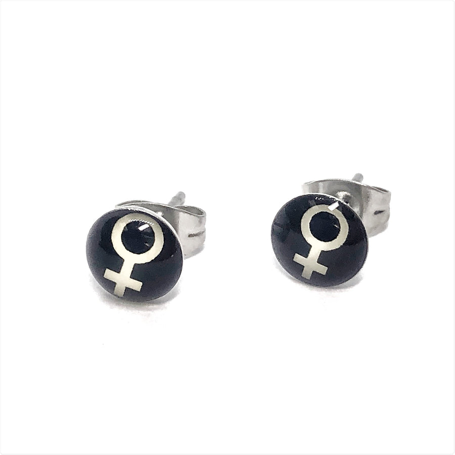 Female Symbol Venus Stainless Steel Studs