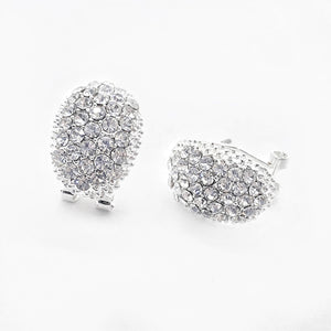 Crystal CZ Encrusted Scoop Clip Earring, Woman Earrings