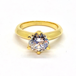 Astra D'ora 2CT Round Cut IOBI Simulated Diamond Solitaire Ring