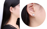 Delicate Flower CZ Stud Earrings