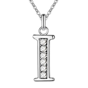 ON SALE - Little Letters CZ Accented Initials Necklace
