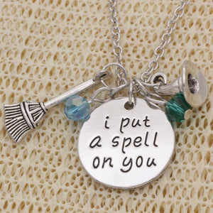 """I Put A Spell On You"" Stamped Sentiment Necklace"