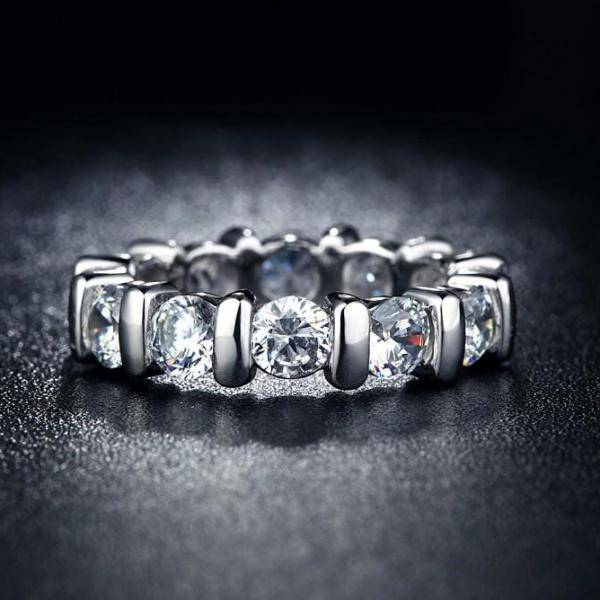 Eternal Bliss 11 Stone Bar Set CZ Eternity Band
