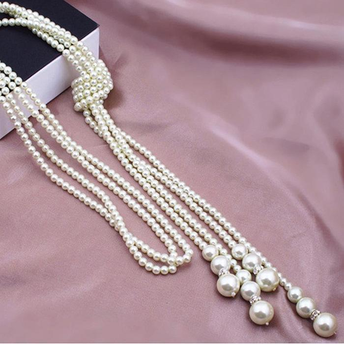feshionn-iobi-long-knotted-pearl-bead-tassel-necklace