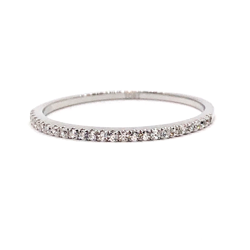 Lillibelle .22CT French Pavé Band IOBI Simulated Diamond Ring for Women