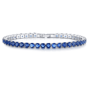CLEARANCE - Luxury Blue Swiss CZ Tennis Bracelet