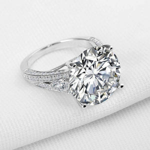 ON SALE - Magdalena 12.89CT Round Cut IOBI Simulated Diamond Ring