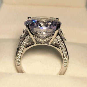 Magdalena 12.89CT Round Cut IOBI Simulated Diamond Ring