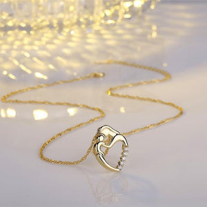 Always In My Heart Mother & Child CZ Necklace