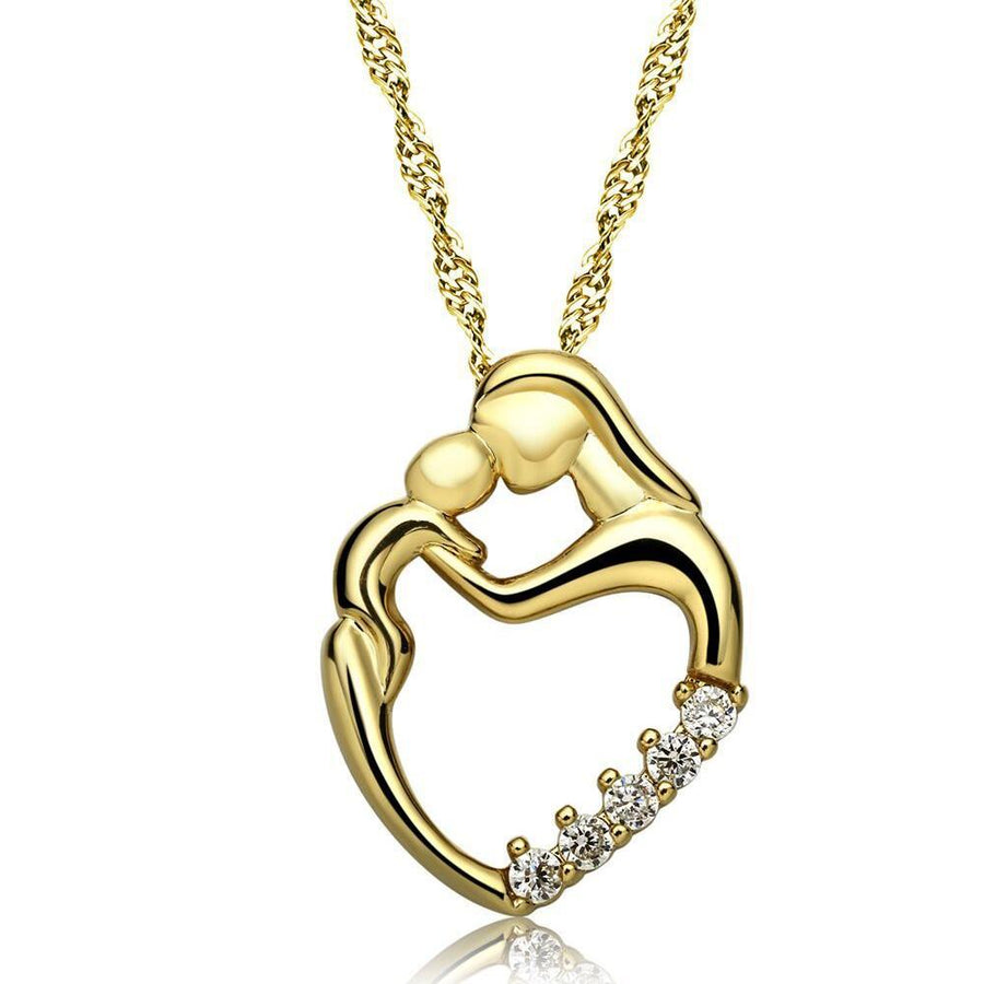 ON SALE - Always In My Heart Mother & Child CZ Necklace