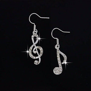 ON SALE - Music To My Ears Crystal Earrings