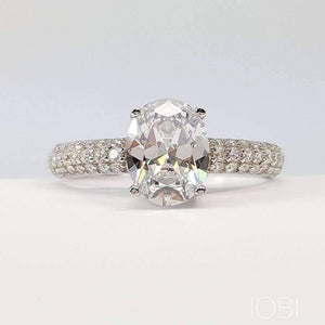 Ophelia 2CT Oval Cut IOBI Simulated Diamond Ring For Woman