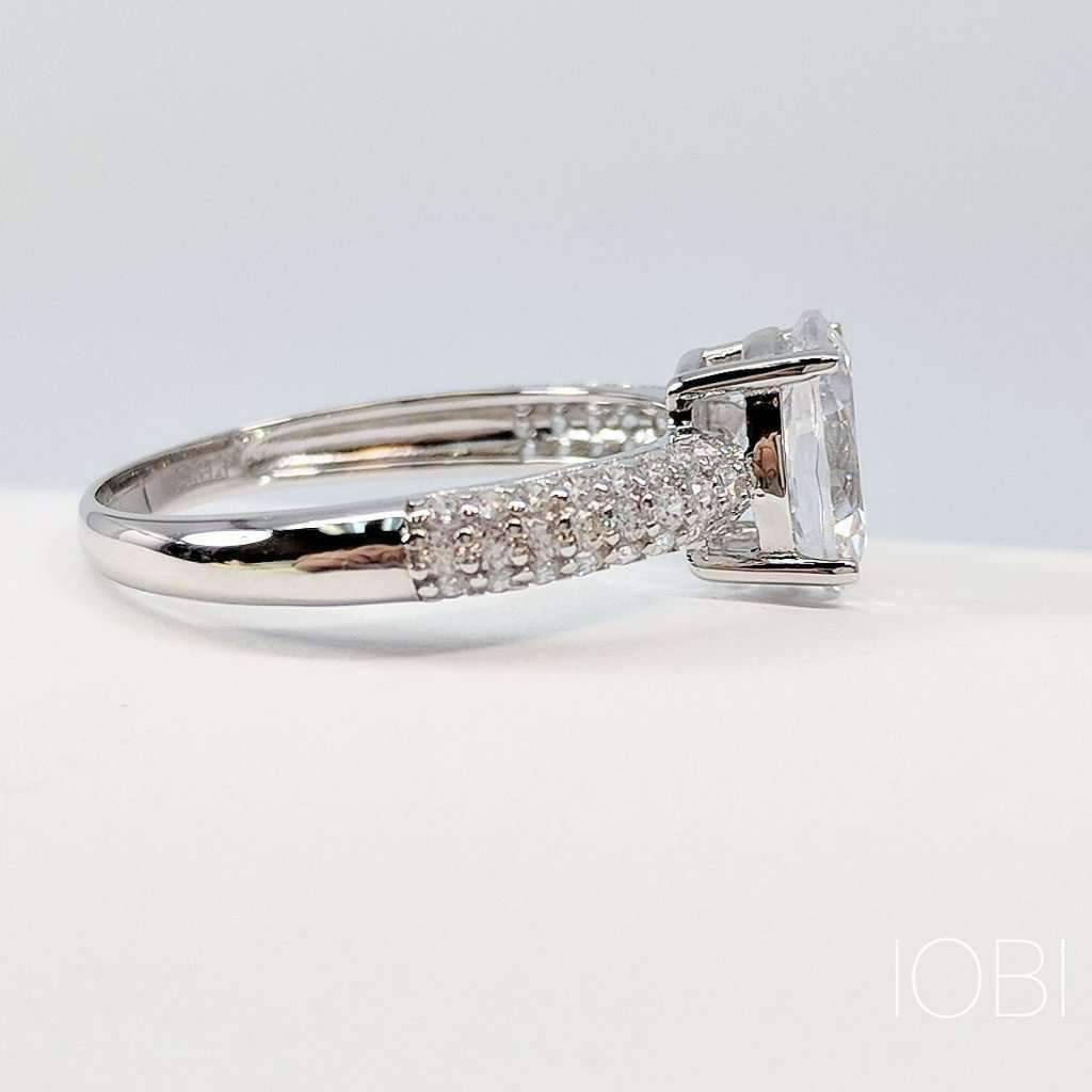 iobi oval silver ophelia feshionn ring cut products diamond cultured