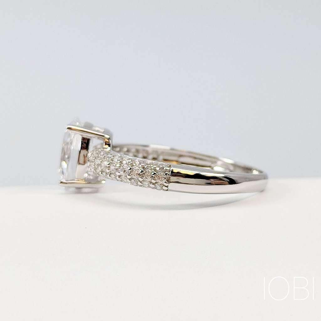 cultured silver iobi products oval ring feshionn cut diamond ophelia