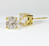 Image of Opulence Round IOBI Cultured Diamond Solitaire Stud Earrings