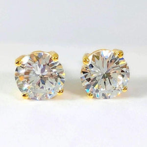Opulence Round IOBI Simulated Diamond Solitaire Stud Earrings