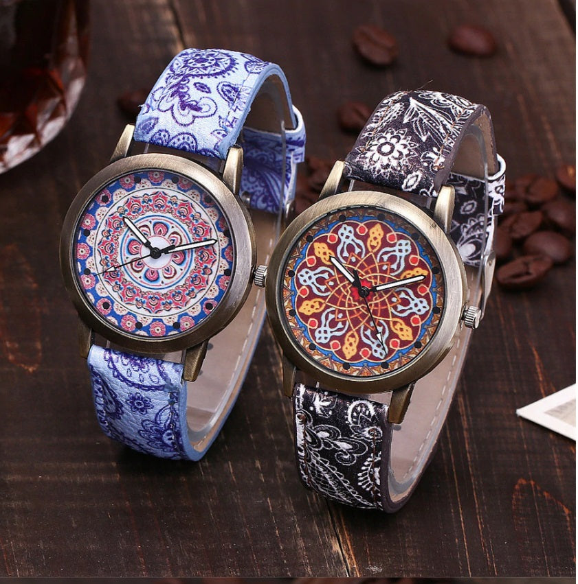 ON SALE - Paisley Print Ladies Wrist Watch