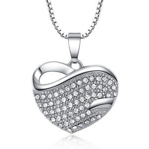 Bold Pavé Heart Necklace