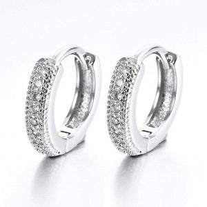 Micro Pavé Zirconia Huggie Hoop Earrings