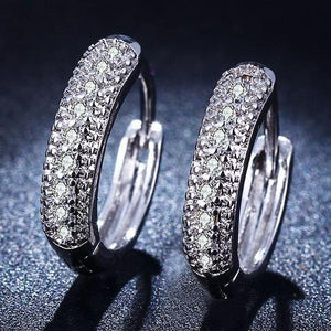 ON SALE - Micro Pavé Zirconia Huggie Hoop Earrings