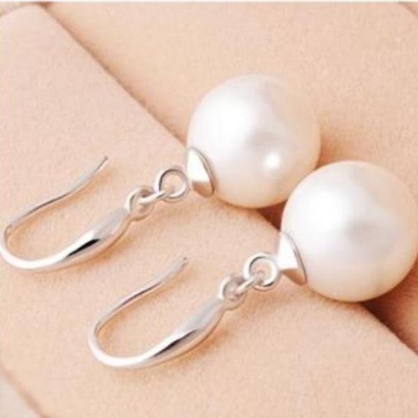 FLASH SALE - Naked IOBI Pearl Drill Earrings in Three Sizes