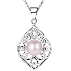Fine Filigree Sterling Silver Pearl Bead Necklace