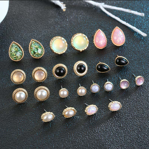 ON SALE - Mix & Match Pearlescence Twelve Piece Earring Ensemble