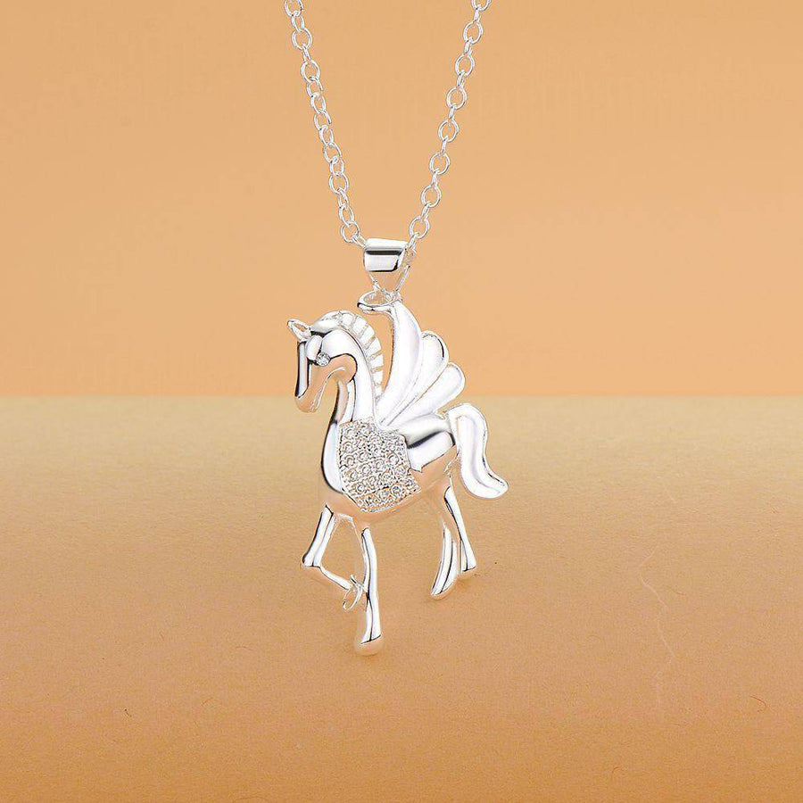 ON SALE - Pegasus Sterling Silver Necklace
